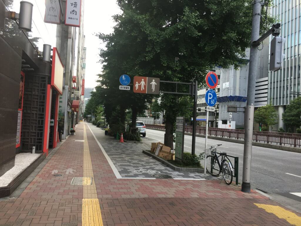 bike lane on sidewalk