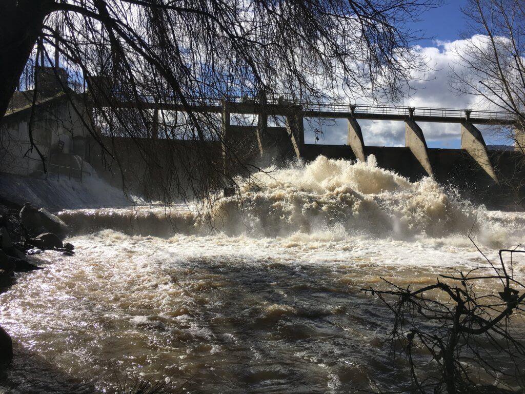 dam after storm