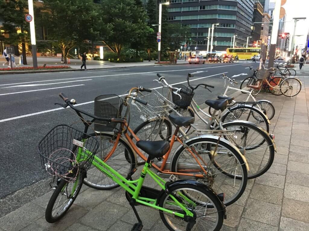 bikes in Tokyp street
